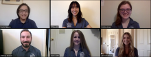 Screenshot of six students in a Zoom meeting