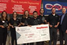 Winners of the Design Day 2017 Raytheon Award for Best Overall Design