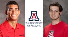 Headshots of Raphael Quintero and Edgar Rivera-Morales. A Block A logo is between the two photos.. A Block A logo is between the two photos.