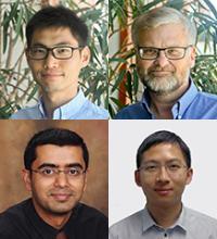 Clockwise from upper left: Jianqiang Cheng, David C. Gross, Qiang Zhou and Vignesh Subbian