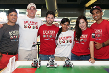 Valerdi with Science of Baseball volunteers; Photo courtesy of the Arizona Diamondbacks