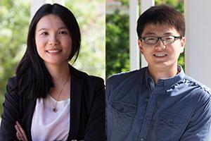 Outstanding Graduate Teaching Assistants Pei-Shan Hsieh and Zuoyu Miao