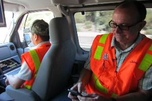 Larry Head during a demonstration in Maricopa County courtesy of Casey Kuhn/KJZZ