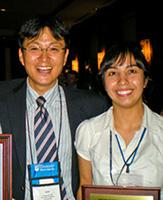 Celik with adviser Young-Jun Son in 2009