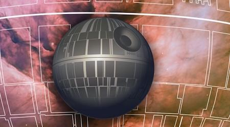 Illustration of 'Star Wars' Death Star. Image courtesy of Gianna Biocca/UA Office for Research & Discovery.